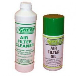 HUILE FILTRE A AIR + NETTOYANT GREEN